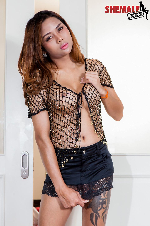 Amazing Thai TGirl Mint Has A Sensual Face, Massive Arousing Boo