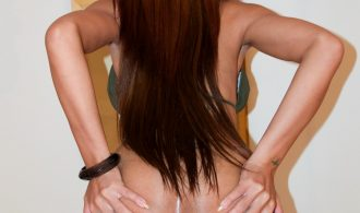 Bare Back And Gaping Cream Pie For Giant Penis Tgirl Vicky