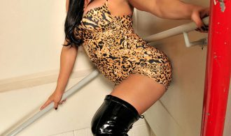 Beautiful Ladyboy In Thigh High Boots
