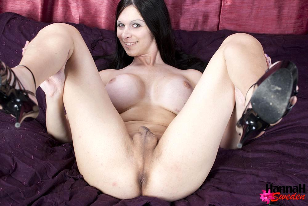 Brunette Tgirl Flashes Off Her Massive T Its