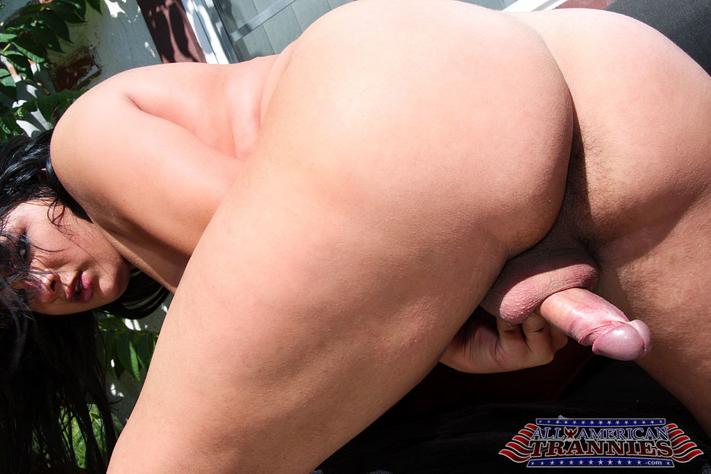 Chubby Ladyboy Shows Us Off Her Body Outdoors