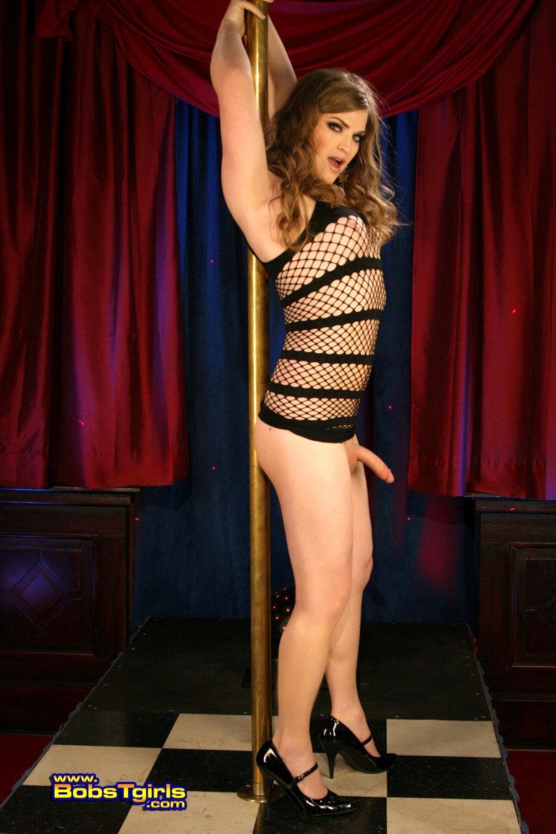 Horny Stripper Tiffany Posing By The Pole