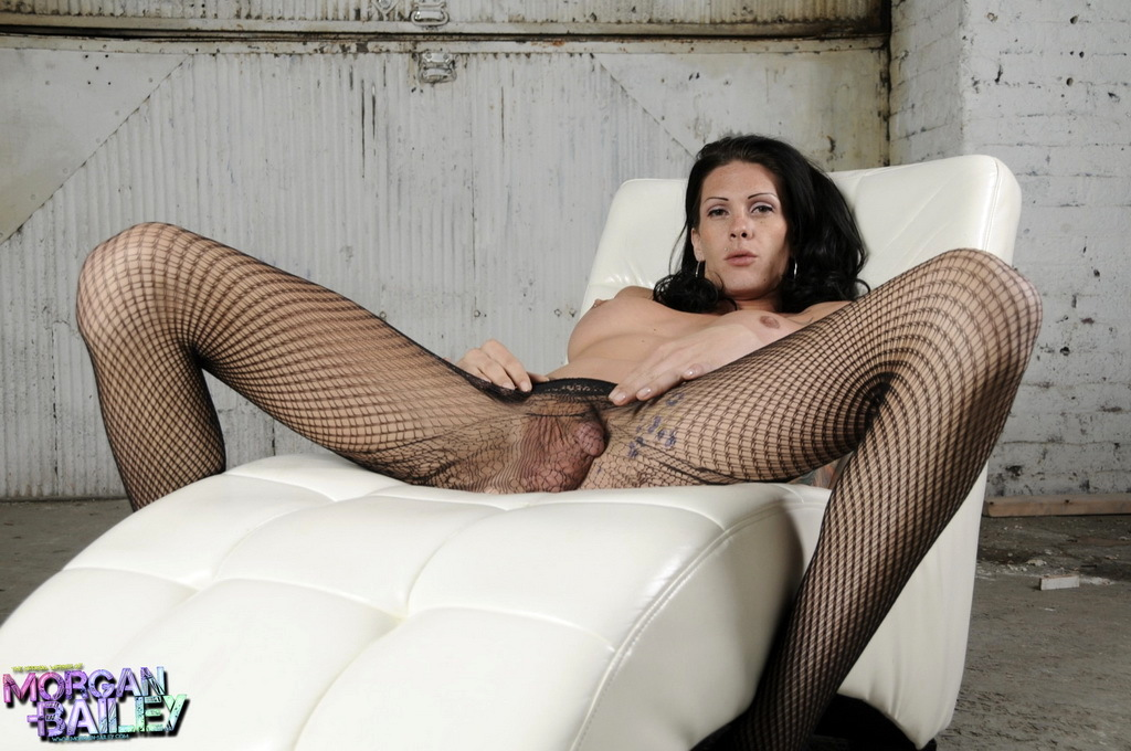Long Legged Morgan Bailey Posing In Flirtatious Pantyhose
