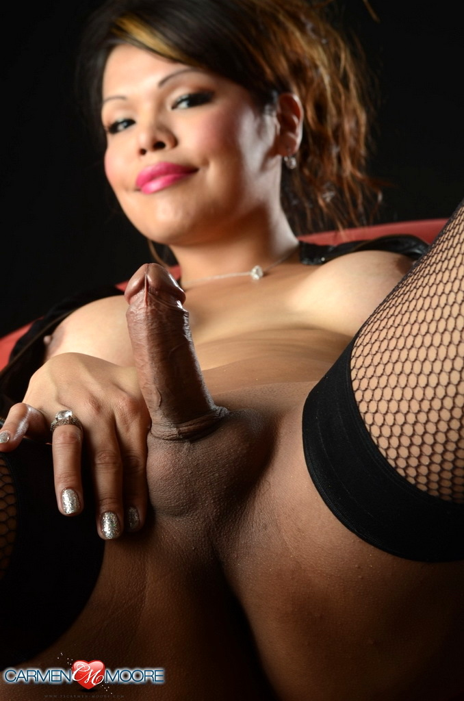Naughty Carmen Toys Wanks In Stockings
