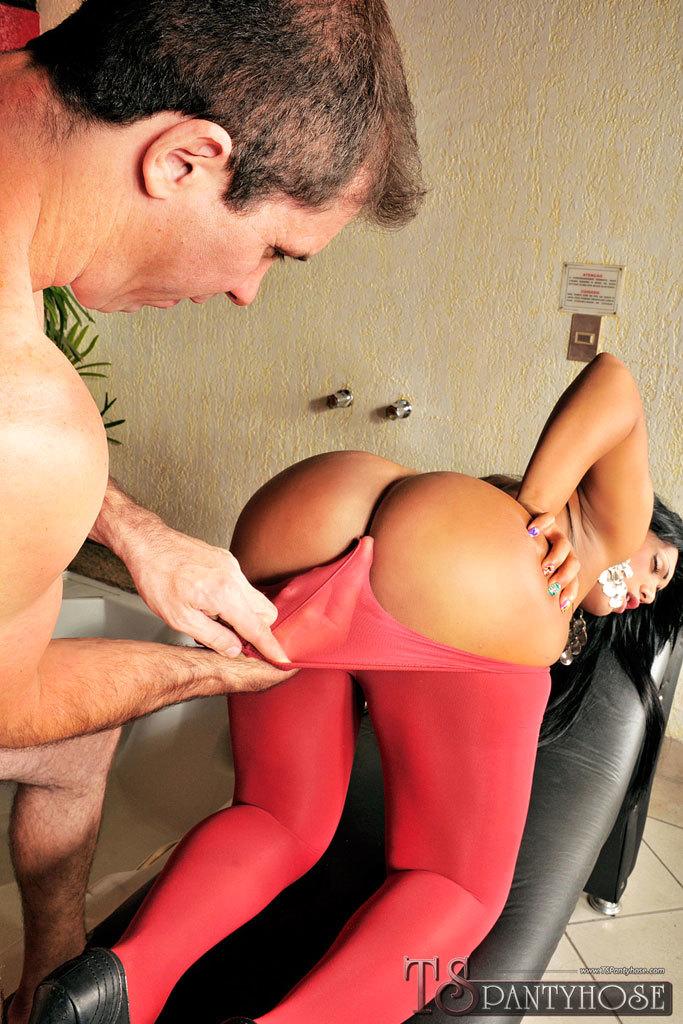 Pantyhose Clad Brazilian Femboy Sex