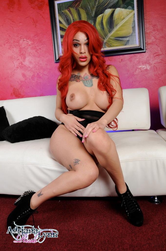 Redhead Adriana Wanks Her Enormous Penis