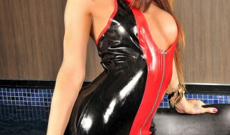 Smoking Provoking Femboy Cutie In Latex