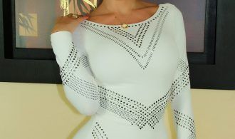 Spicy Femboy Ana Mancini In Sleek White Skirt