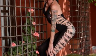 Spicy Morgan Posing In Dirty Bodysuit