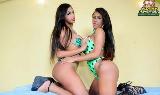 Splendid Set That Brings 2 Rock Stars T-Girls In An Impeccab