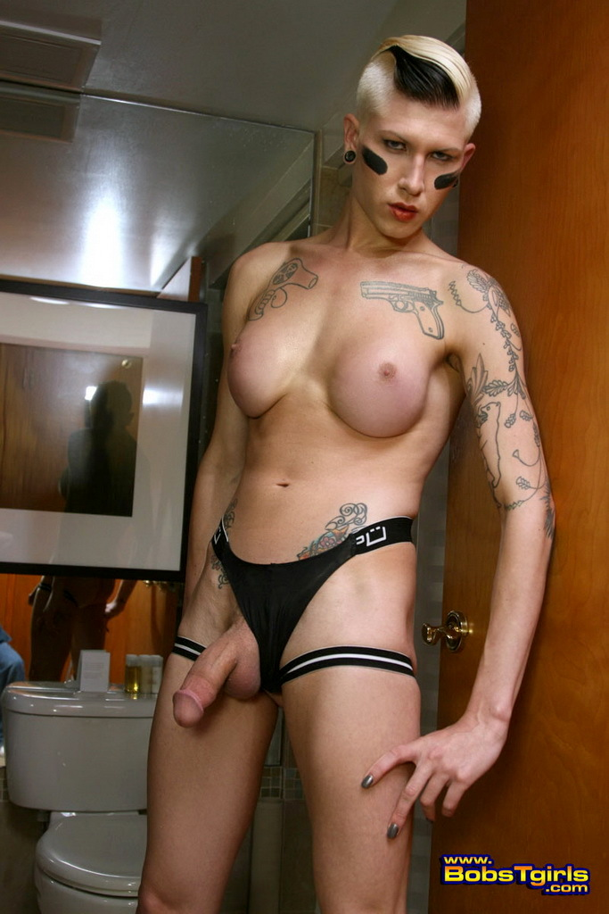 Splendid TS Danni Daniels Posing Her Big Dick