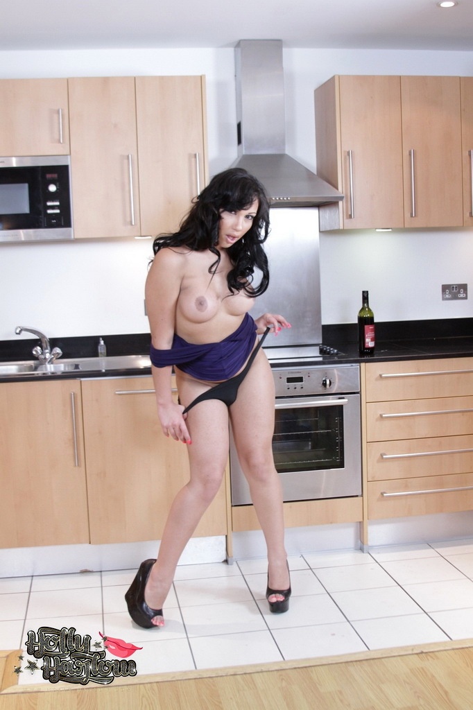 Suggestive Holly Posing In The Kitchen