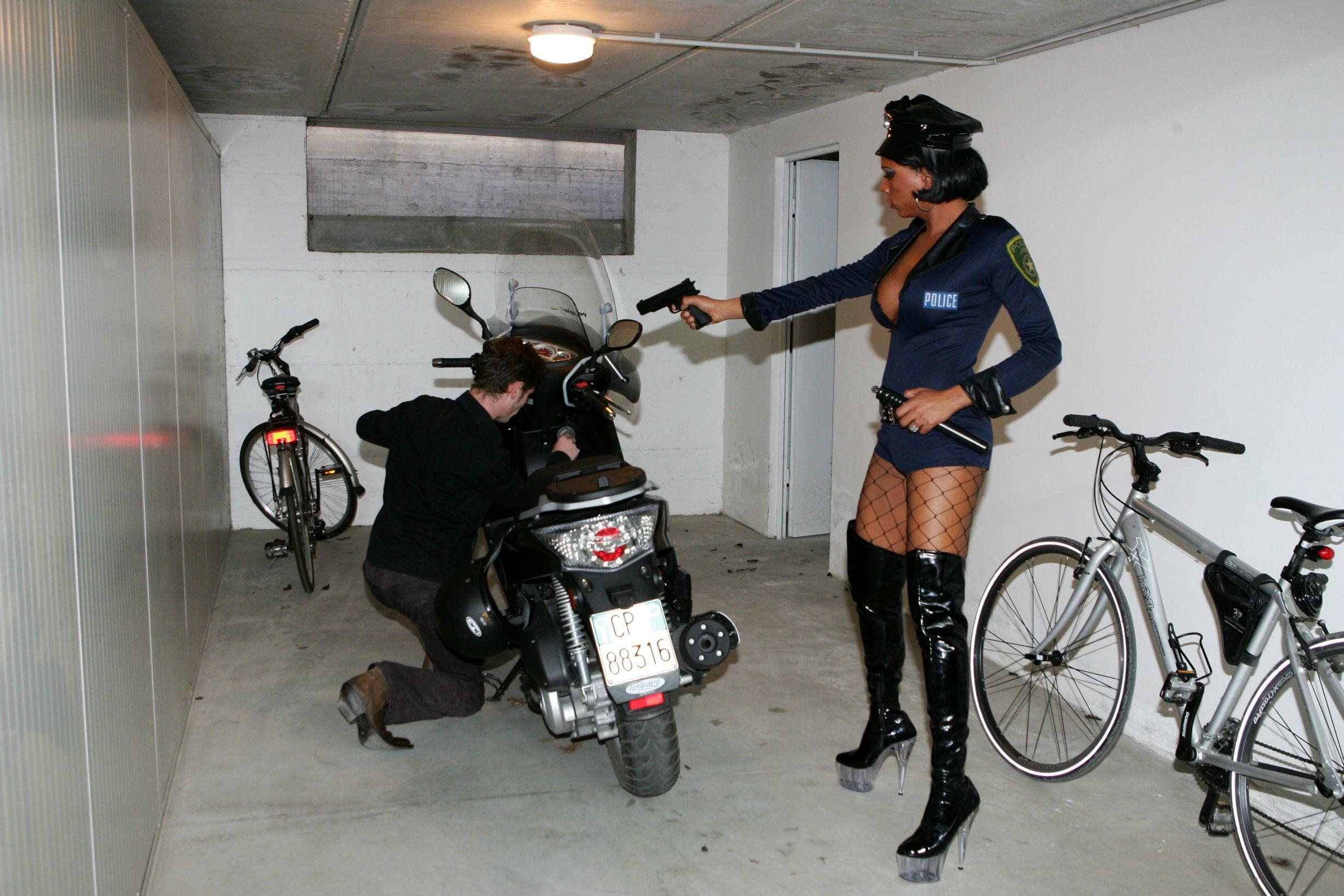 Transexual Cop Bang's A Man