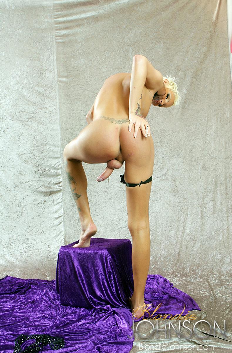 TS Blondie Johnson Fulfills Your Smoking Tgirl Fetish
