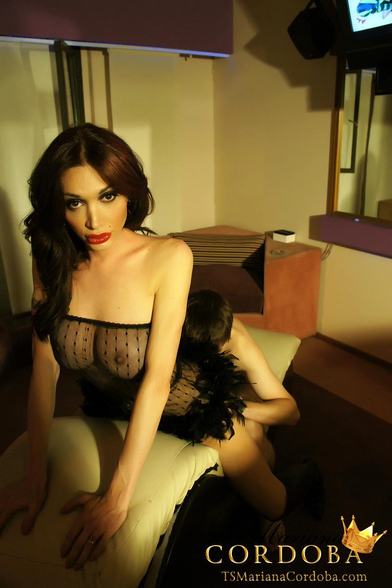 TS Mariana Cordoba Having Her 12 Inches Of Dick Sucked Rough