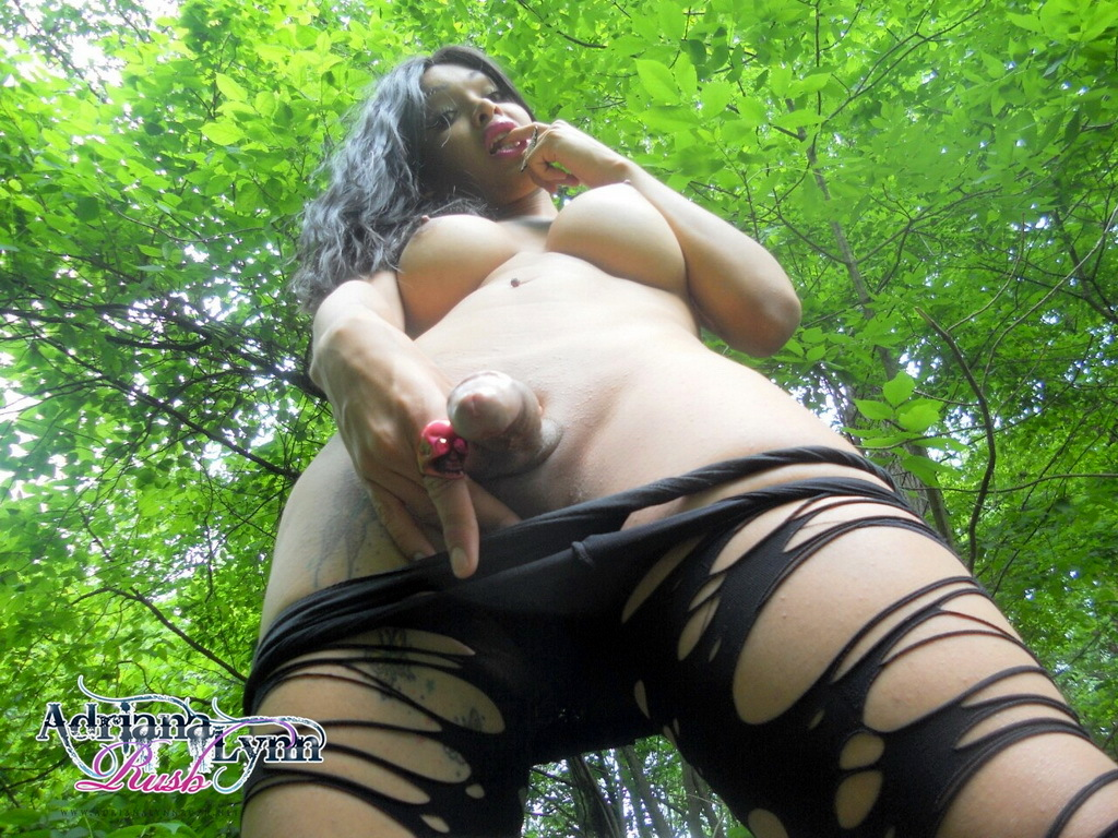 Yummy Adriana Strips In Forest