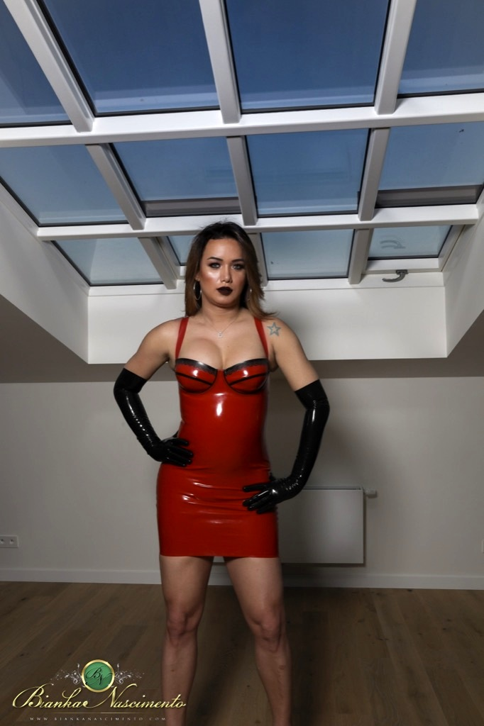 Bianka In Flirtatious Red Latex Is Hungry As Shit And Ready To Fuck