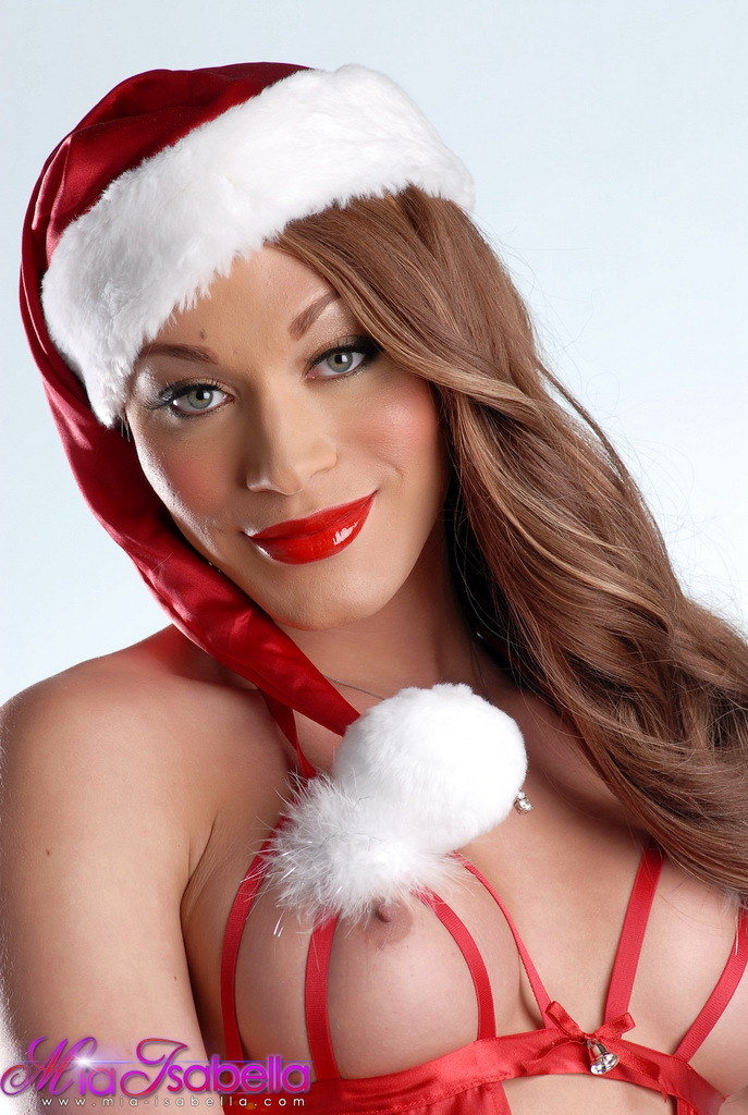 Super Provocative Mia Isabella Wishing Merry Christmas To All Of Her